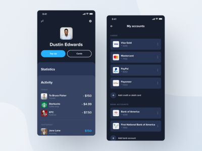 Modern Mobile Banking App