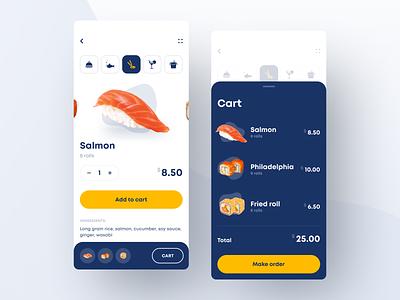 Restaurant App ecommerce app ecommerce cart order food app food cafe menu app menu restaurant sushi app sushi app white mobile ios