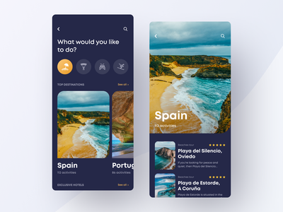 Travel App for Exploring the World travelling traveling trip planner travel app travel trip app trips trip ui design dark clean app mobile ios