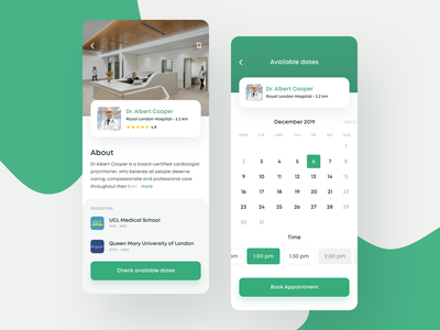 Find your Doctor App hospital healthcare health app health doctors doctor app doctor ui design clinic clean app mobile white ios