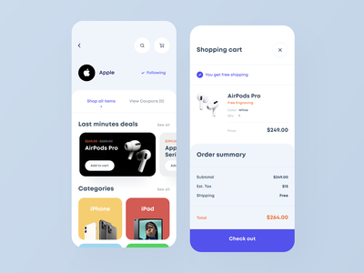 Online Shops Mobile Aggregator II shopping cart ux subscription shop payment checkout ecommerce shop ecommerce app ecomerce app design catalog ui design dashboard clean app mobile white ios