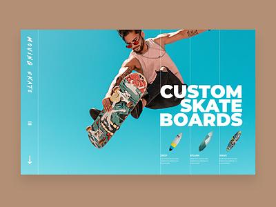Skateboard website concept uxdesign uiux website website design ux minimal design ui
