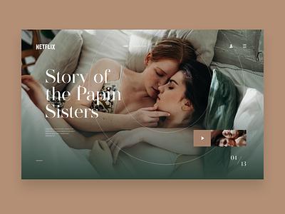 Concept for Netflix featured movie page uiux uxdesign website website design ux minimal design ui
