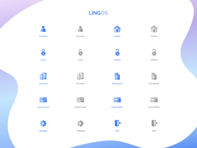 Icons lock card styling sketch app document home symbol settings exit door creditcard payment uiux uidesign webdesign iconography iconset icons branding