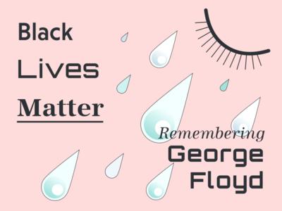Black Lives Matter - Remembering George Floyd equality breathe gradient policebrutality racism end tears blacklivesmatter empowerment typeface graphic graphic design image illustration design art georgefloyd