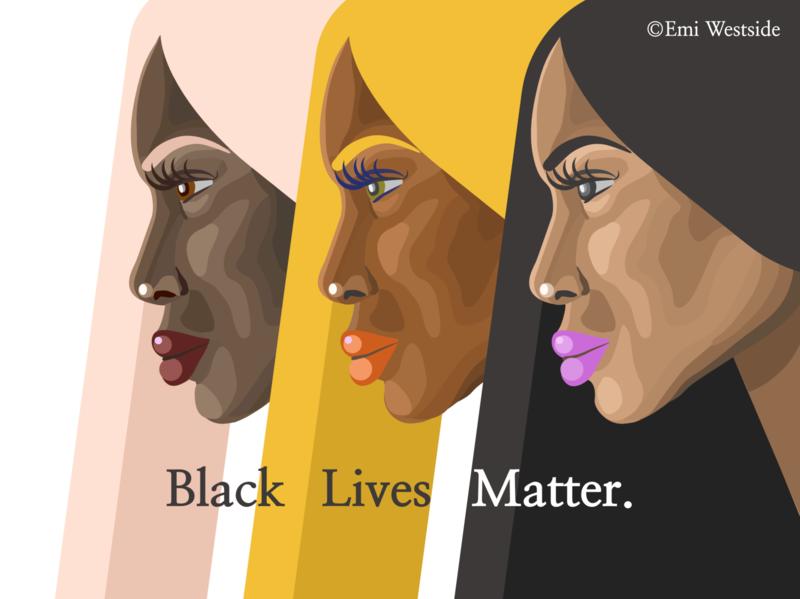 Black Lives Matter! black cause hair longhair beautiful beauty resist rights graphicdesign woman girl affinity illustration womens day liberation freedome art women empowerment blackwomen women