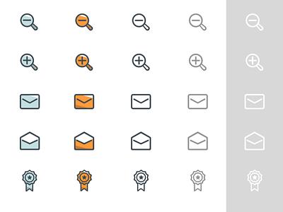 TerraTalk Icons component zoom minus plus star email badge branding figma sketch symbol mail specs icons uiux ui mobile ui application