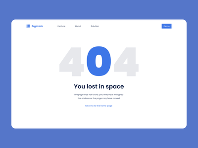 Empty state - 404 design web typography lost blue and white blue 404 emptystate ux ui interface