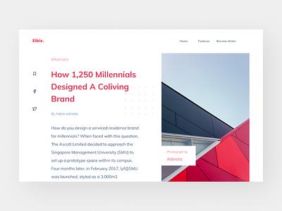 Exploration - Blog post typography webdesign web blog design blog post blog