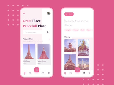 Exploration - Traveler App travel app design app ux ui interface discover search find card image awesome history popular place