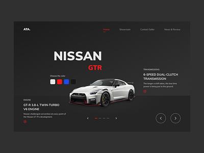 Exploration - Show room show room branding design ux ui interface product web website typography dark ui dark custom car