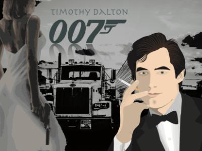 OO7 Actors illustation series