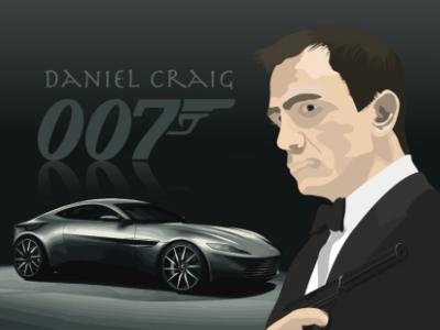 007 Actors illustration Series