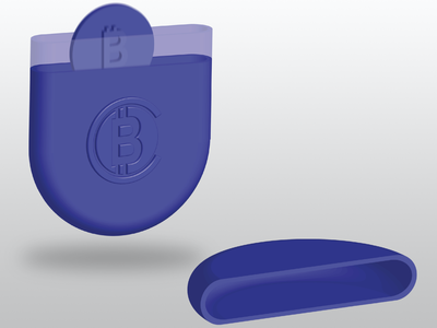 Isometric Bitcoin Wallet isometric design wallet bitcoin