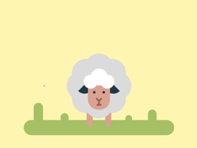 Cute Sheep | Flat Drawing