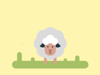 Cute Sheep | Flat Drawing
