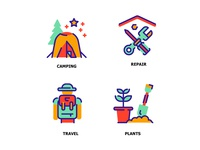 Lifestyle 4 Flat Color Icon