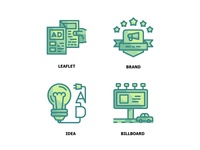 Marketing Twotone Icon Set 1