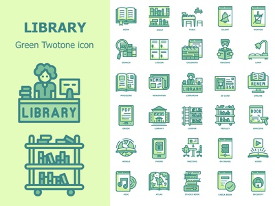Free Downlod 30 icons ,Library set.