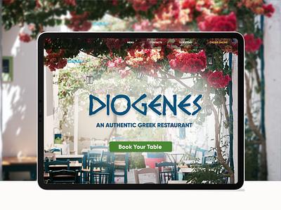 Greek Restaurant Landing page layout design design ux ui