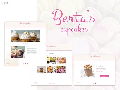 Berta's Cupcakes: the cake shop bakery cakeshop cakes daily ui landing page webdesign layout design ux