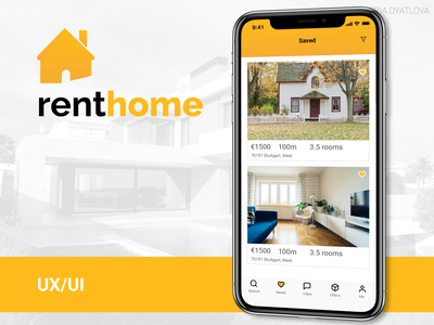 House Renting app home tenant landlord apartment rent house logo