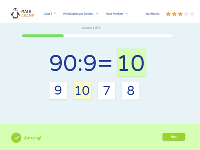 Math Learning Service UX/UI education learning course school maths