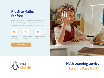 Education Service Landing Page teacher study learning course school education maths