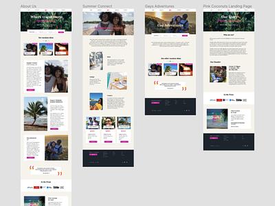 Landing Page Design for Community Travel Startup traveller community travel queer landing page ui design ux