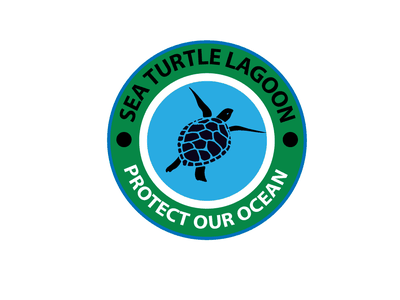 Sea Turtle Lagoon Logo t-shirt design logotype branding logo vector