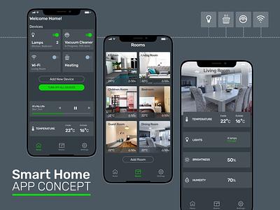 Smart Home (IOT) App Concept daily ui challenge daily ui dailyui user interface ios ui ux smarthome iot design