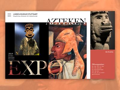 Museum - Aztek Exhibition Page ux design web design webdesign ui ux design typogaphy
