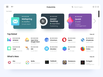 Ubuntu App Store Productivity Screen ux design uiux ui appstore ubuntu
