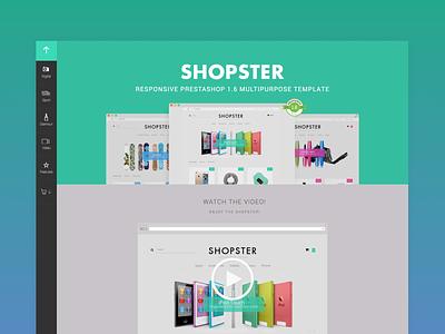 Shopster Prestashop Template Landing Page gradient ecommerce prestashop landingpage