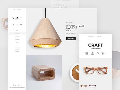 Craft Prestashop Template website design craftwork prestashop magento ecommerce ux ui template craft