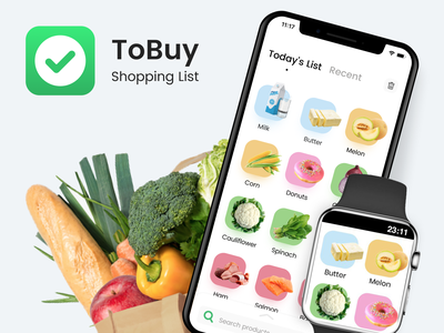 ToBuy - Shopping List free app food app design food app ui food app food ios app design apple watch shopping app todoapp grocery list shopping list uidesign ui app design app ios app