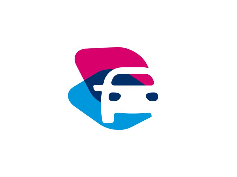 Logo driving school driving school simple mark brand logo branding identity design