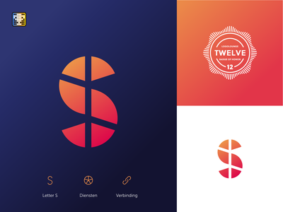S Logo simple grid mark logo design book12 typography branding brand identity design logo logoloungebook12 logolounge