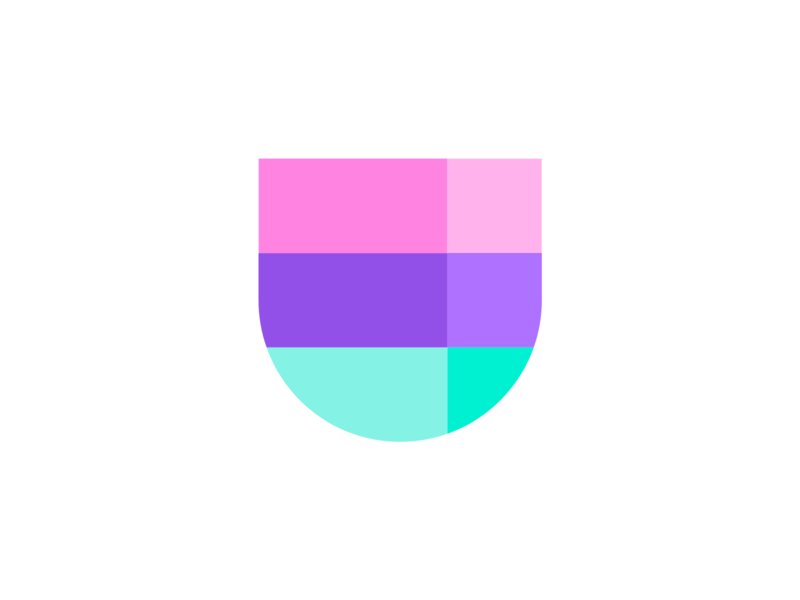 Shield logo experiment grid logodesign designer transparency transparent mark simple brand logo identity design shield