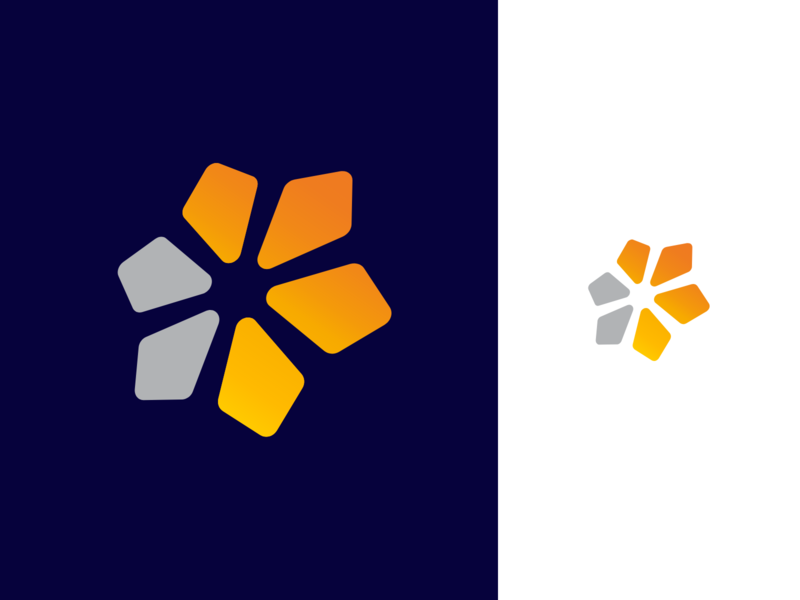 A new logo concept vector simple mark branding brand identity design gridlogo logo grids grid direction arrow arrows