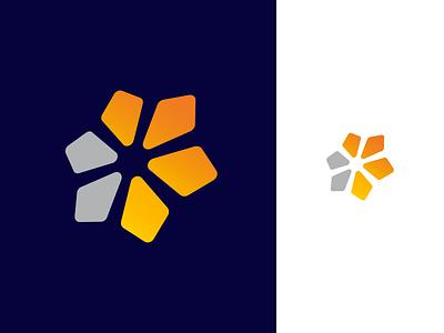 A new logo concept abstract colors grow concept symbol gradient vector simple mark branding brand identity design gridlogo logo grids grid direction arrow arrows
