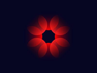 Flower Star blackhole flowers transparency transparent mark vector simple mark branding logo identity design brand black red flower star
