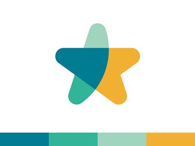 Star transparency colors star mark brand branding identity design logo