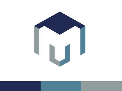 M Cube 3d cube mark brand typography m branding design identity logo