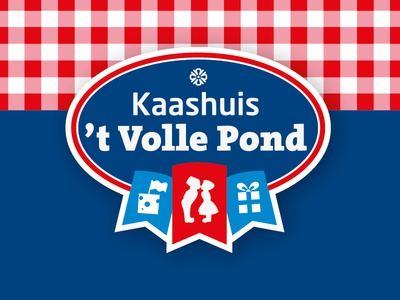 Logo Kaashuis 't Volle Pond holland  typography  mark  logo identity  design  branding  brand cheese