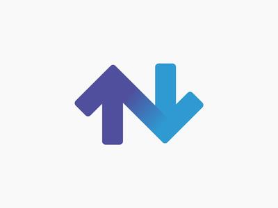 N-Arrow simple arrow n typography mark logo identity design branding brand