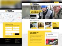 Homepage desktop and mobile