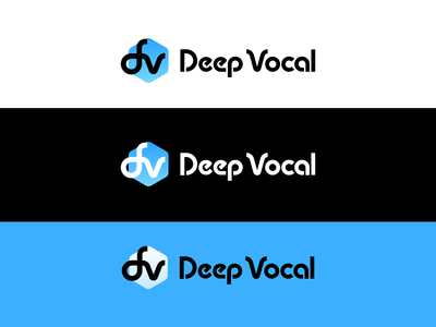 DeepVocal Logo in Different Background Colors
