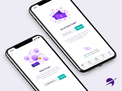 Rewards at Spaceship ui purple referrals referral rewards promotions promo mobile investing illustration fintech finance app