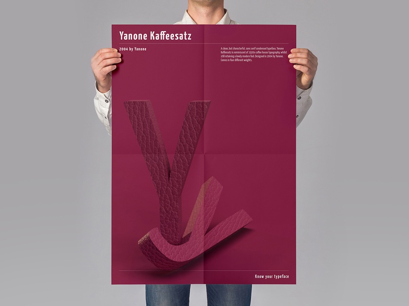 Typeface Poster: Yanone Kaffeesatz typography poster typogaphy typeface poster art light and shadow knowyourtypeface illustration graphics design graphic follow me design zombie design artwork art 3dtext 3d poster sushant sushant kumar rai design jombie